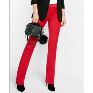 Express Editor Career Pant Slacks Red Size 8R